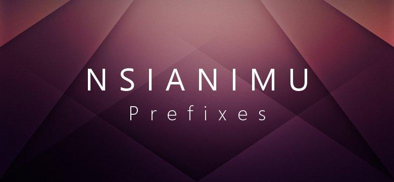 prefixes in twi nsianimu